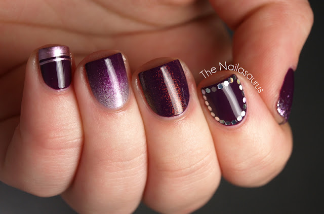 Purple Skittle Mani by The Nailasaurus