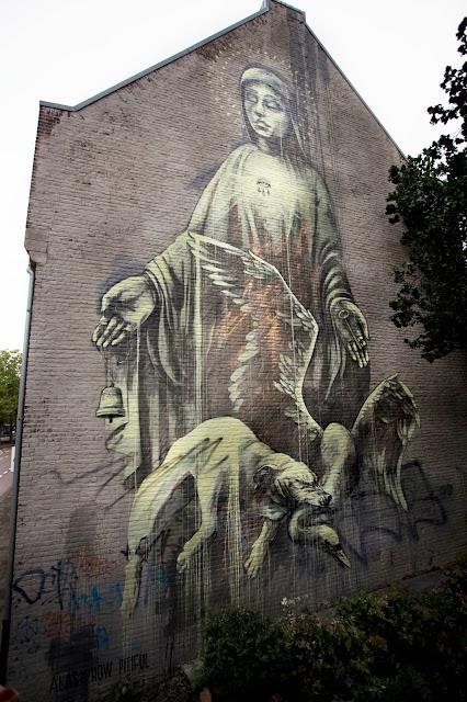 """Alas! how pitiful."" street art  Mural By Faith47 In Heerlen, Netherlands. 3"