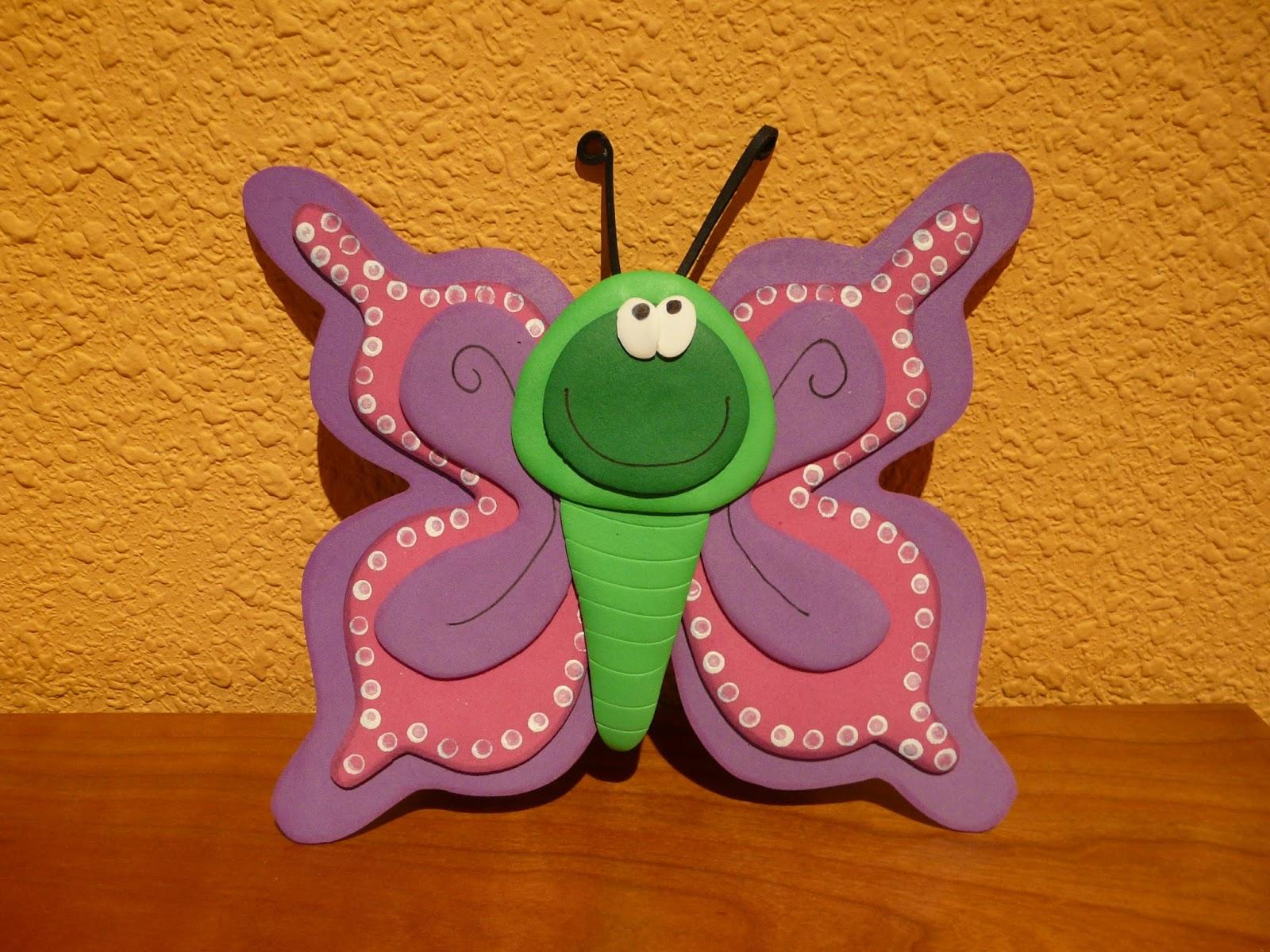 Manualidades isadial mariposa en goma eva - Mariposas goma eva ...