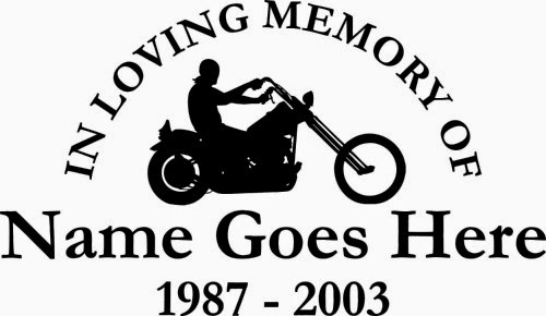 in memory of vinyl stickers