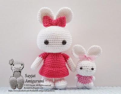 Amigurumi Crochet Patterns K And J Dolls : 2 bunny sisters