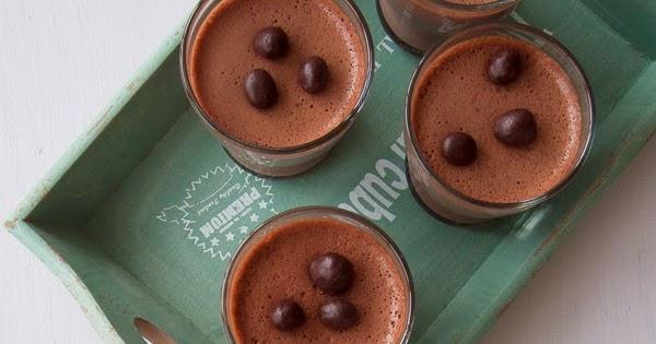 Panna Cotta De Chocolate Y Cafe