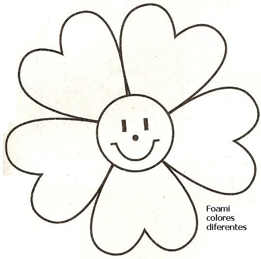 Moldes de flores grandes para imprimir - Imagui