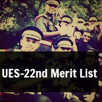 UES-22nd Merit List for Indian Army Course July 2013