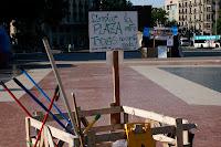 Plaza Catalunya sucia