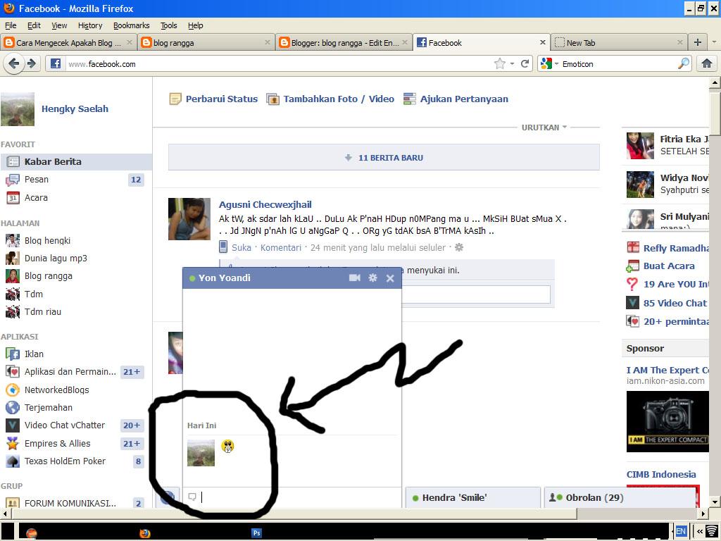 ... dan kali ini masih tentang tips trik facebook tentang cara membuat