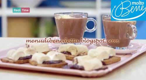 S'mores con tazzine di cioccolata ricetta Parodi per Molto Bene
