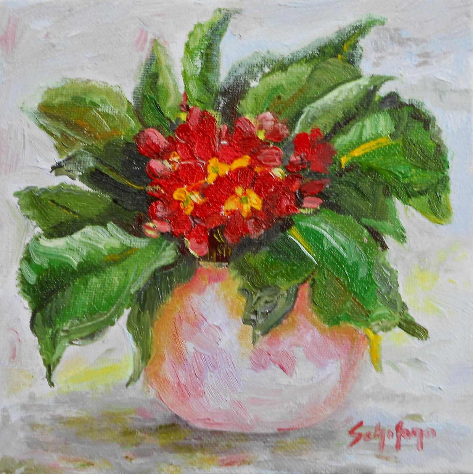 flower oil painting, niagara artist, kath schifano