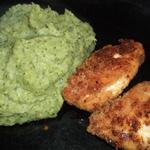 Nuggets de poulet (et purée verte)