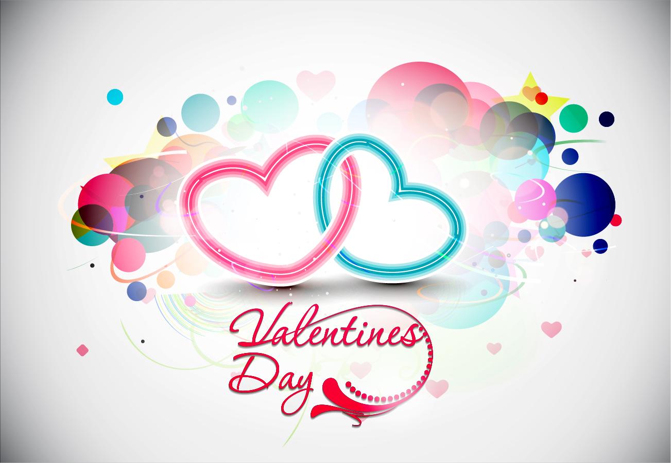 美しいバレンタインデーの背景 beautiful heart-shaped Valentine pattern イラスト素材3