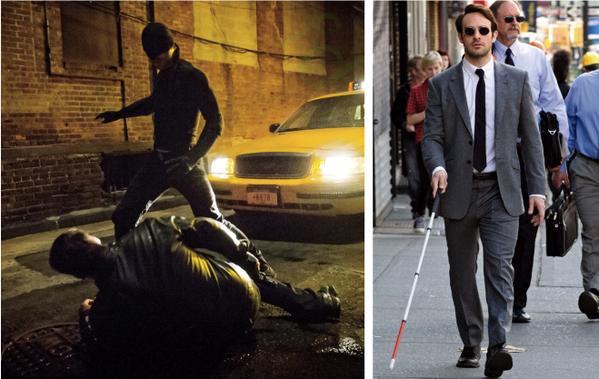 Charlie Cox como Daredevil y Matt Murdock en el Daredevil 2015 de Netflix