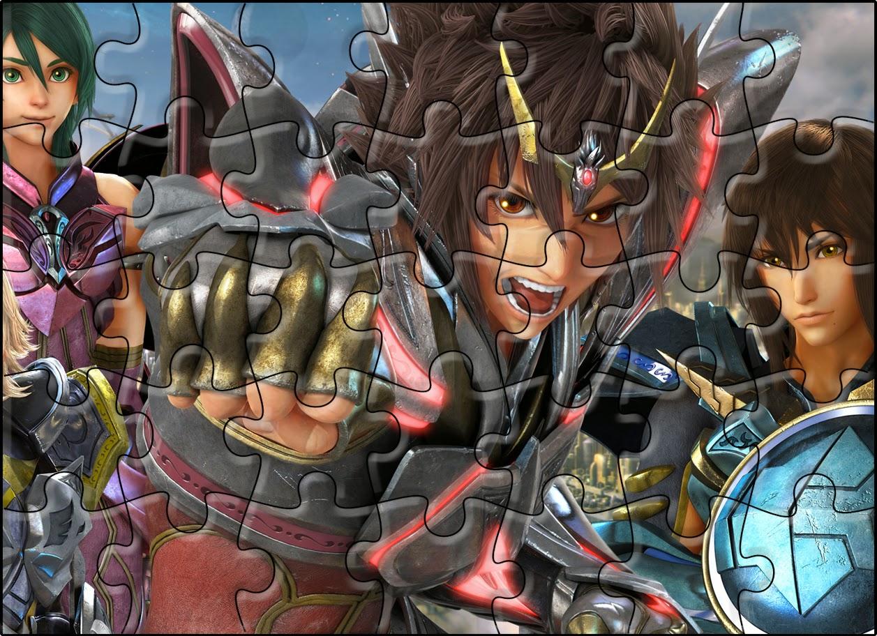 Puzzle para imprimir gratis de Caballeros del Zodiaco.