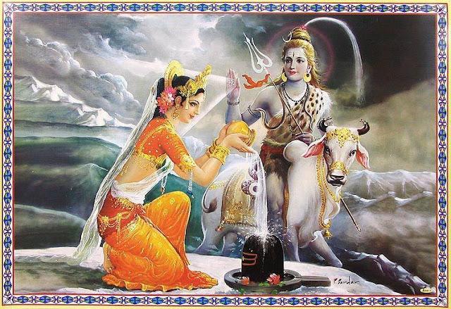 Lord Shiva & Parvathi 5
