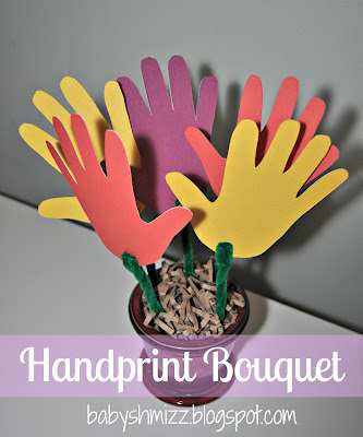 Handprint Bouquet for Grandma