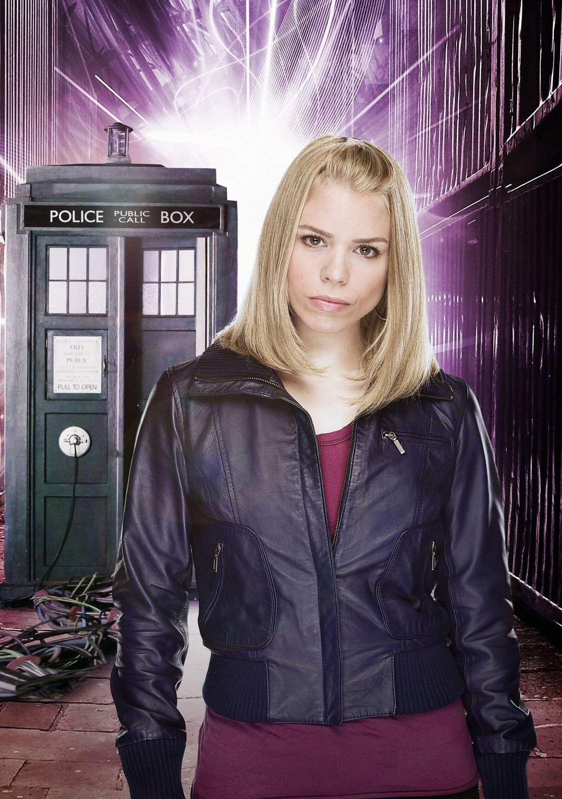 Image result for rose tyler purple leather jacket