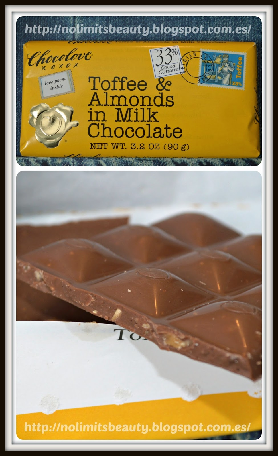 Toffee & Almonds in Milk Chocolate de Chocolove