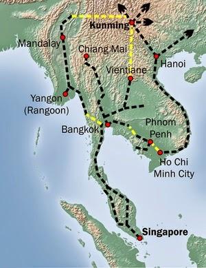 Kunming-Singapur Bahn