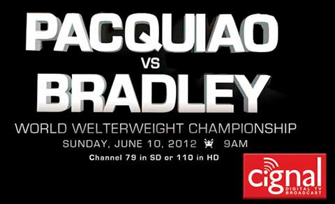 Manny Pacquiao vs Timothy Bradley - Live Pay Per View PPV Tickets & Cable - Philippines