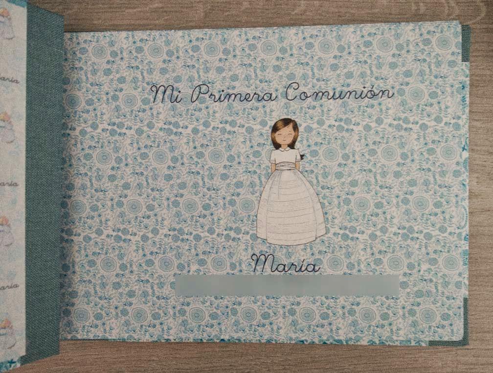 suitbook, album comunion, album fotos, album photos, pepa coqueta, encuadernacion, handmade