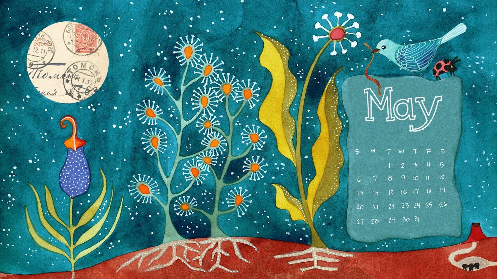 May Calendar Desktop : Geninne s art april
