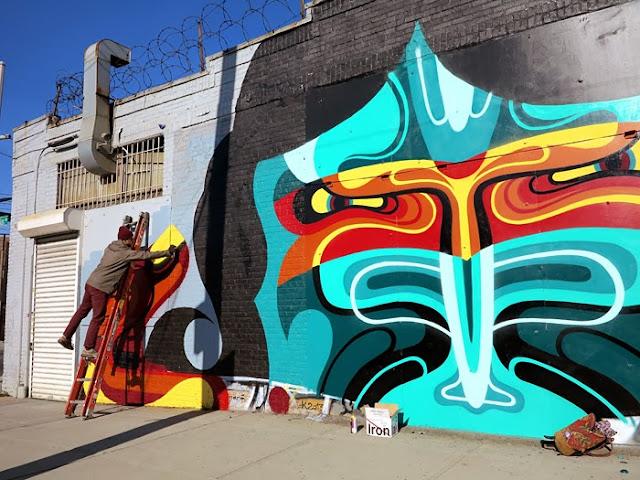 New Street Art Mural By Australian Artist REKA in Bushwick, New York City. 2