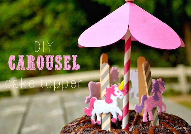 DIY carousel cake topper
