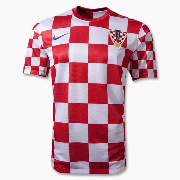 Kostum Timnas Kroasia Piala Dunia 2014