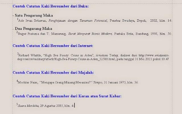 And Ina Catatan Kaki Footnote