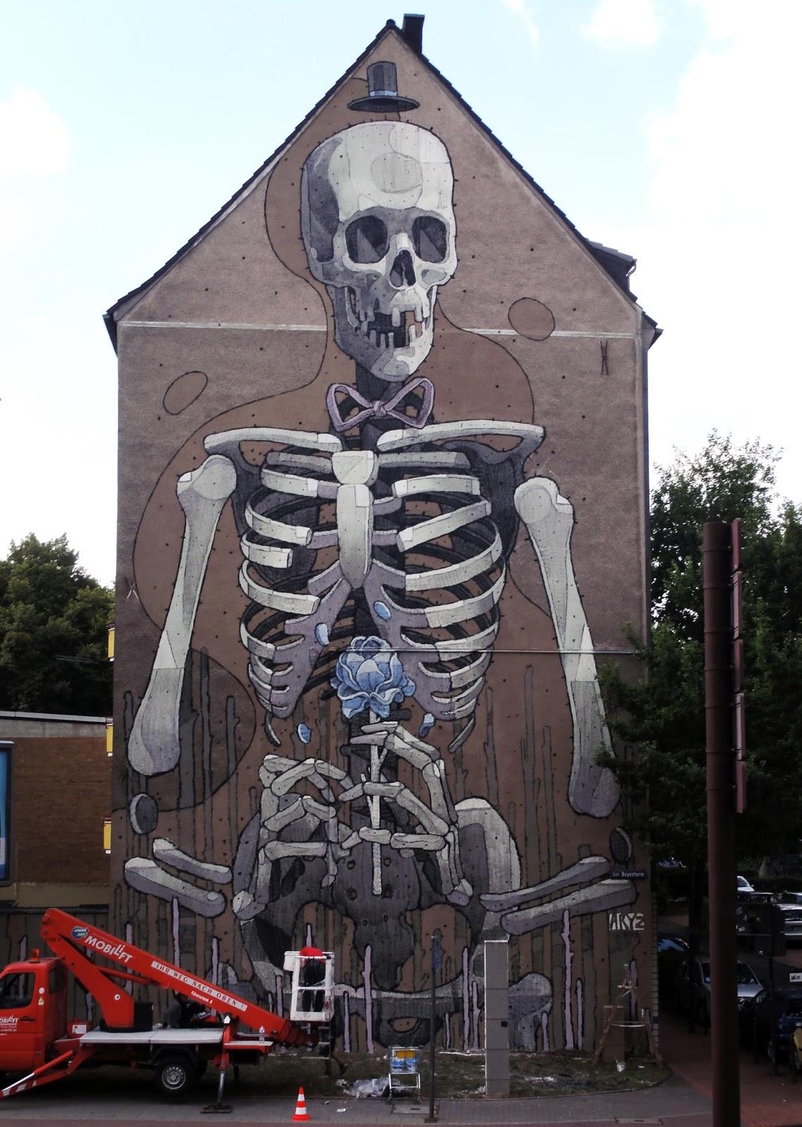 aryz new mural in cologne germany streetartnews streetartnews. Black Bedroom Furniture Sets. Home Design Ideas