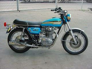 Yamaha XS650 Blue