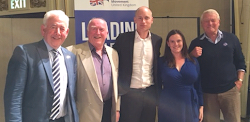 Gwynoro with Stephen Kinnock, Paddy Ashdown and Dafydd Wigley