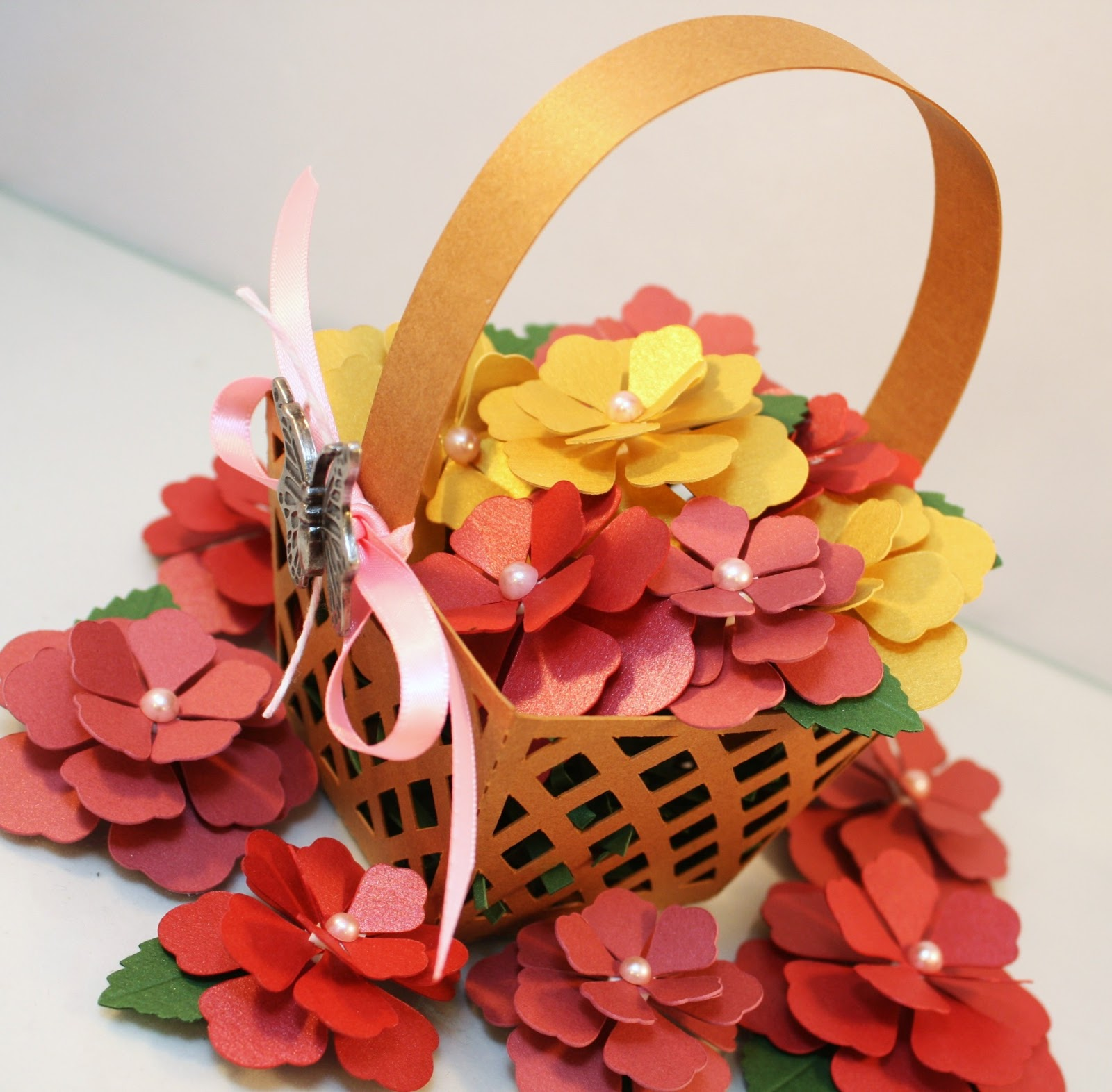 Basket Of Flowers By Jamie Cripps Cutcardstock