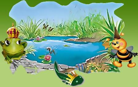 Bricole lo stagno nella vasca da bagno for Gli animali dello stagno