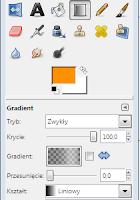 Narzędzie gradientów w programie gimp