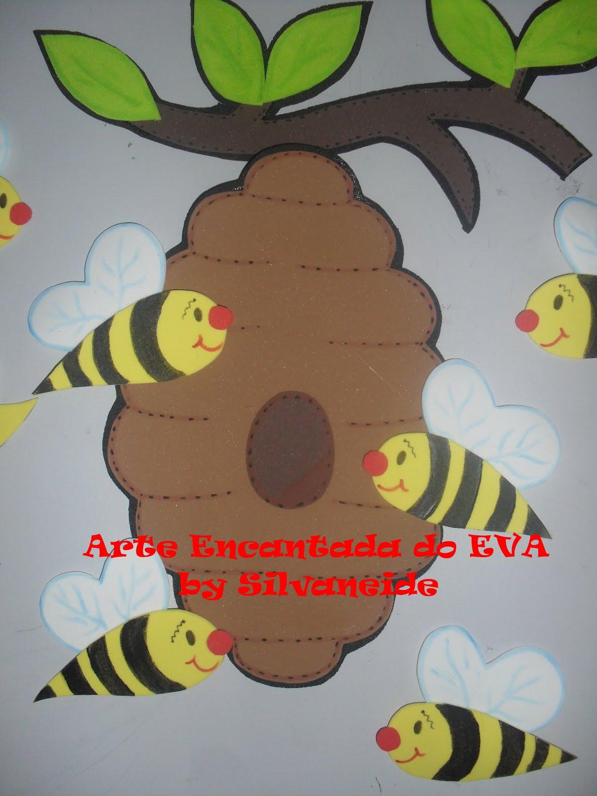 Arte encantada do eva by silvaneide painel abelhinhas na for Mural de isopor e eva