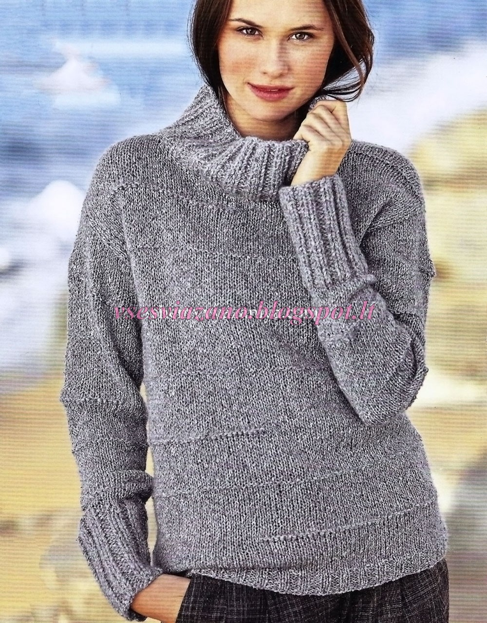 Схемы вязания свитеров спицами из мохера на