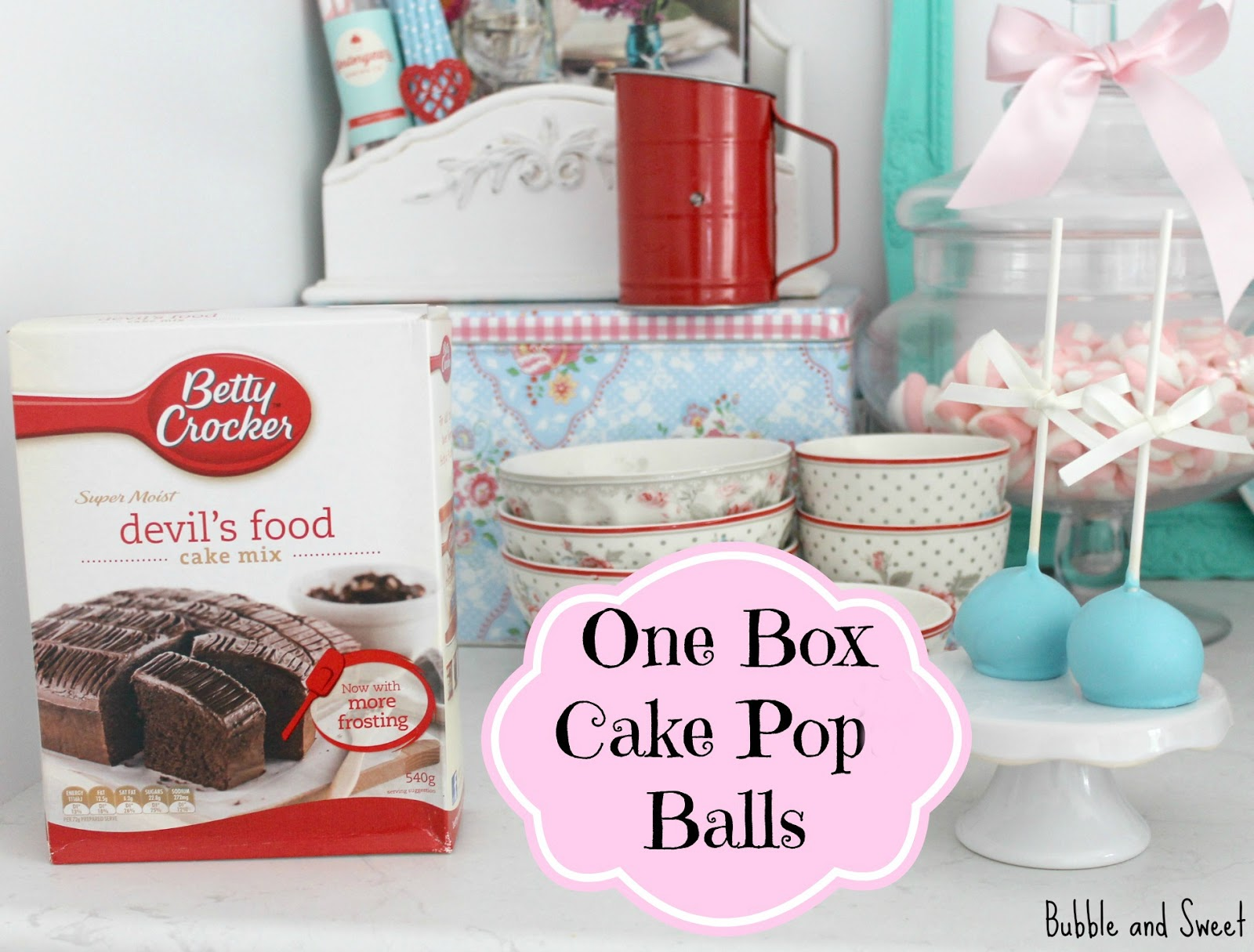 how to make cake pops with cake mix