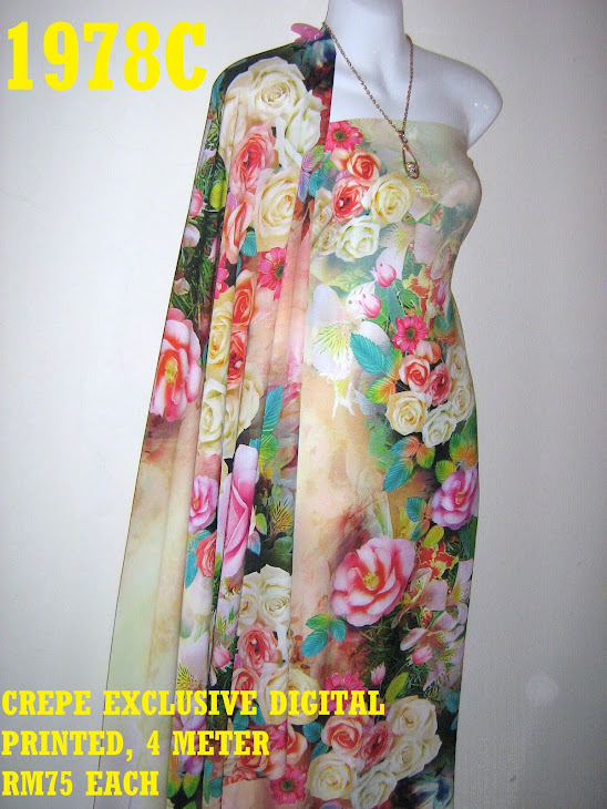 CDP 1978C: CREPE EXCLUSIVE DIGITAL PRINTED, 4 METER