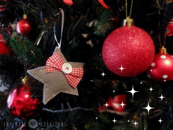 Χριστουγεννιάτικο αστέρι από τσόχα