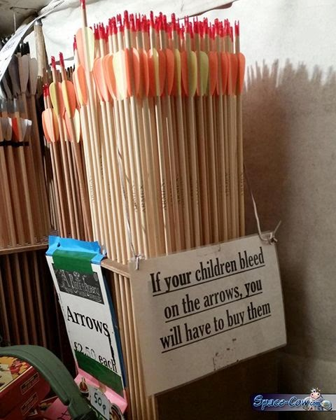 funny arrows sign message