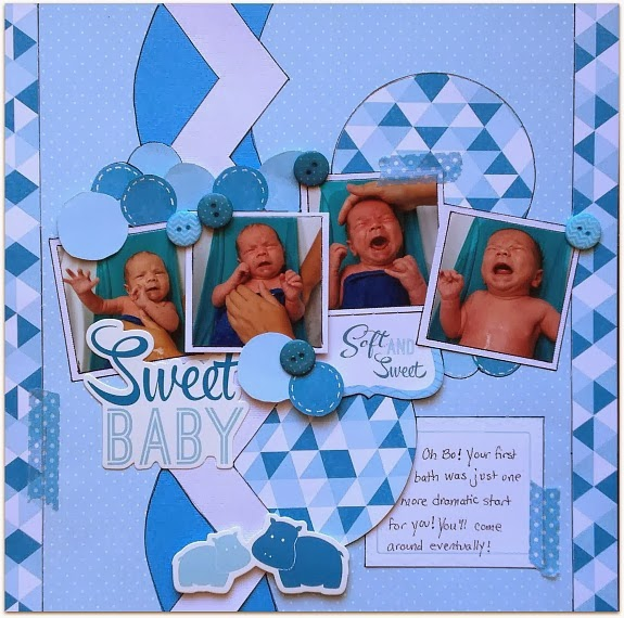 Baby Boy Layout Ideas: Christine Meyer