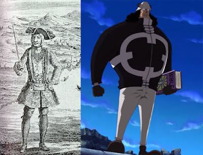 Bartholomew Roberts, Bajak Laut Legendaris dibalik Karakter Bartholomew Kuma
