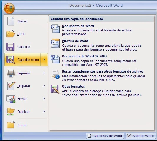 Guardar un Documento Word
