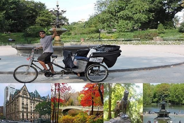 Central Park Tours by Pedicab Rickshaws