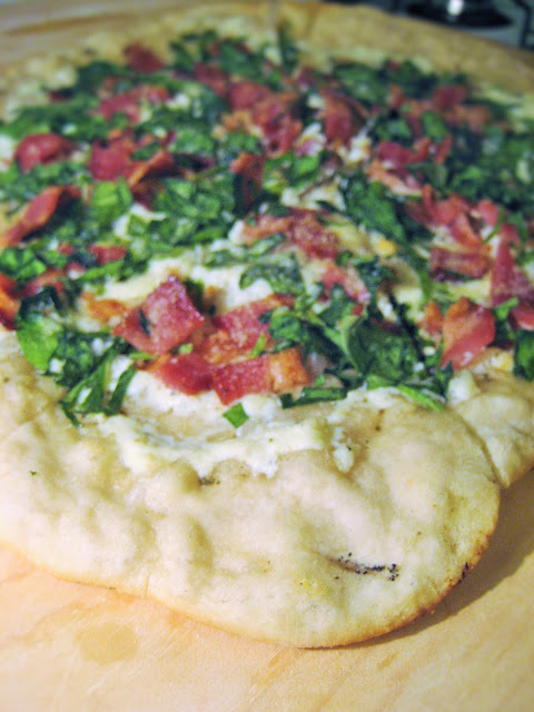 Bacon-Spinach-Pizza
