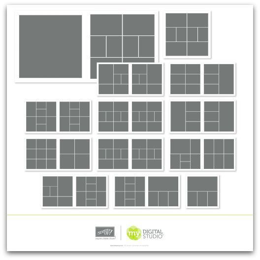 Stampin' Up! Simply Life Photo Templates Digital Download