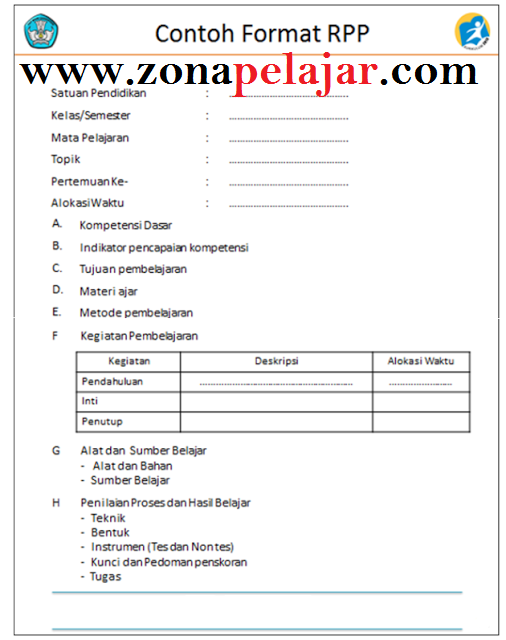 format rpp kurikulum 2013, cara membuat rpp