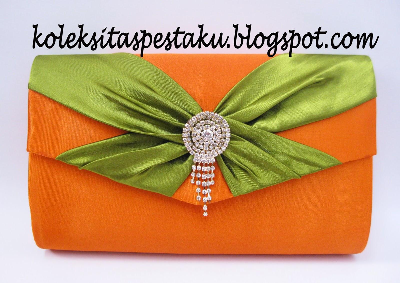 tas dompet pesta murah tapi mewah warna elegant bross jurai silver