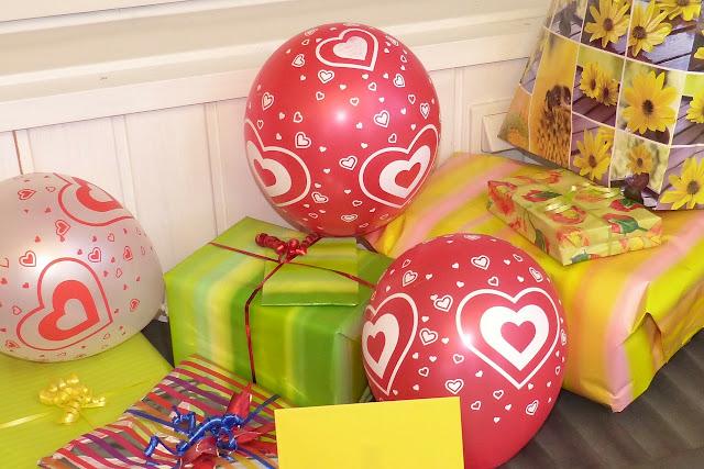 Prezent, urodziny, balony, inspiracje