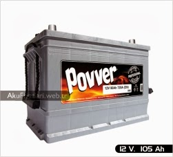 povver akü ağır hizmet serisi 12 volt 105 amper